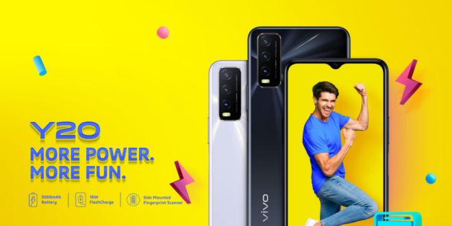Vivo Y20 price in india and full specs